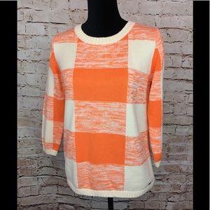 Volcom Summer Sweater Checkered Cream Orange